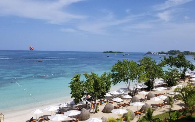 View of a beach resort