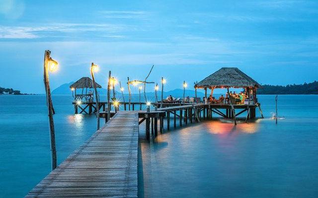 An exotic beach hut in Thailans