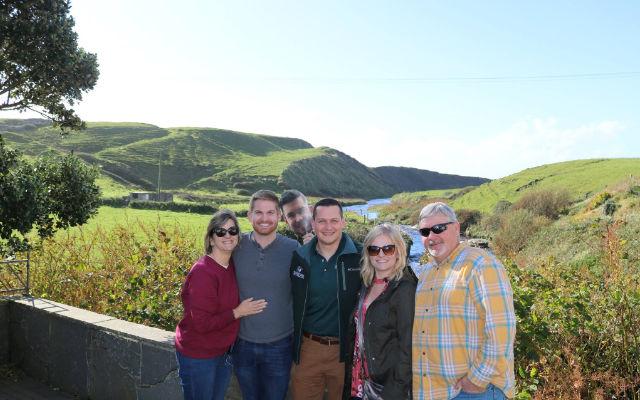 Group of travelers in Ireland