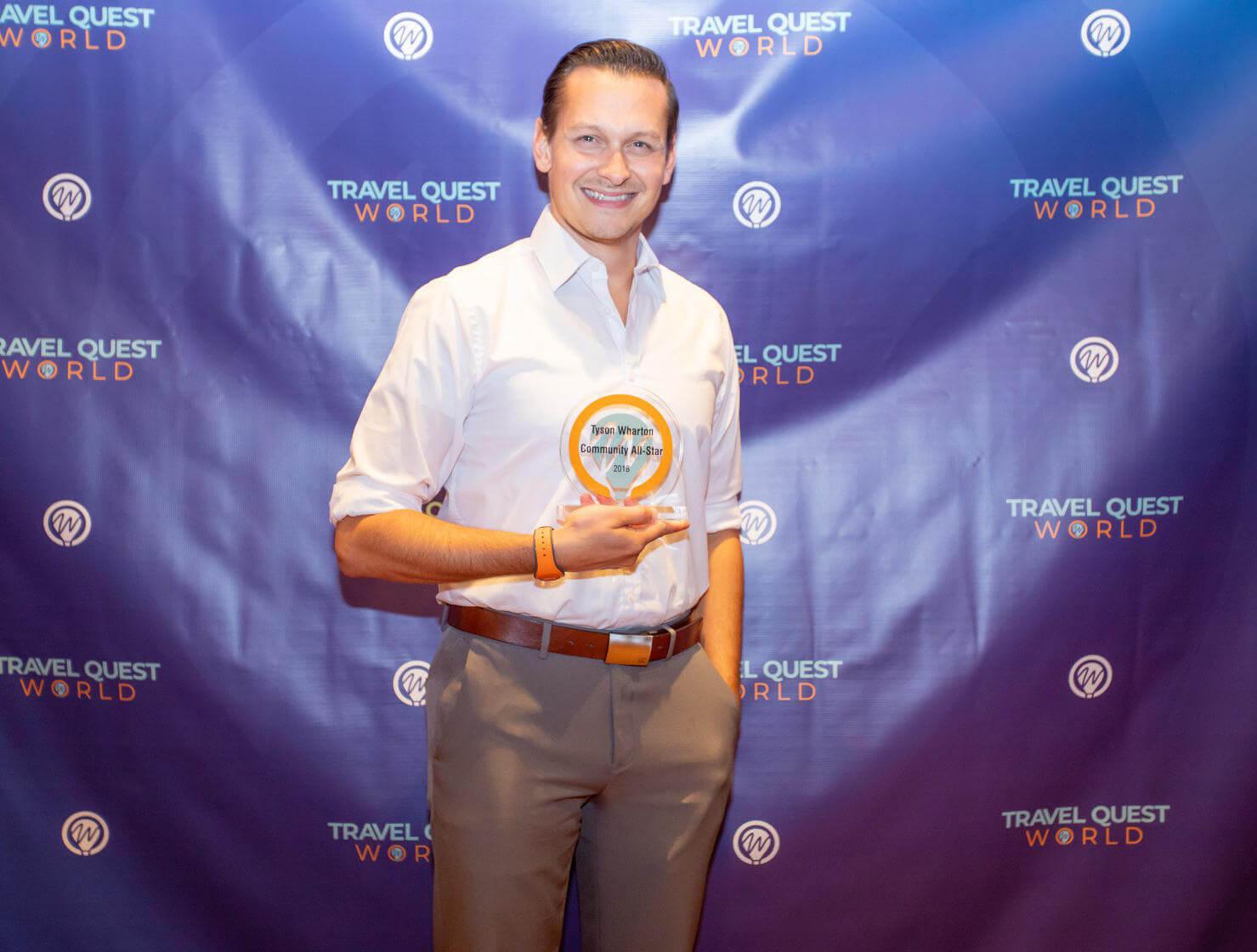 Tyson with award